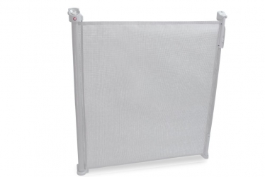 Rozwijana bramka barierka ochronna zabezpieczająca drzwi schody Lionelo Tulia do 140 cm - biała