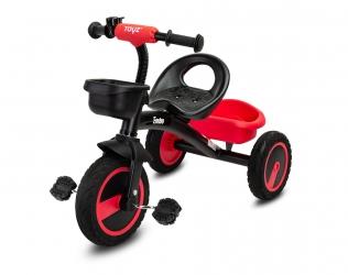 Rowerek trójkołowy dziecięcy Caretero Toyz Embo z pedałami - czerwony