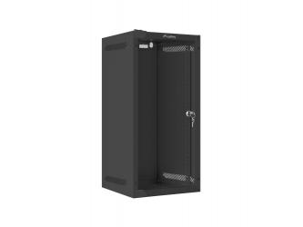 Szafa instalacyjna RACK wisząca 10'' 12U 280x310 drzwi szklane Lanberg (flat pack) - czarna
