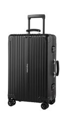 Kabinowa walizka aluminiowa na kółkach Kruge&Matz 54 l czarna