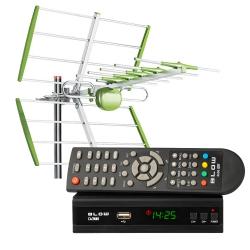 Cyfrowy zestaw DVB-T tuner DVB-T/T2 EV104 + antena kierunkowa DVBT08
