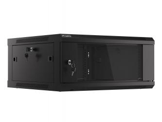Szafa instalacyjna RACK V2 wisząca 19'' 4U 600x600 drzwi szklane Lanberg  - czarna