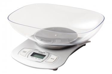 Elektroniczna waga kuchenna z misą Adler AD 3137s srebrna