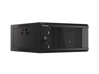 Szafa instalacyjna RACK V2 wisząca 19'' 4U 570x600 drzwi szklane Lanberg  - czarna