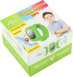 Zegarek KIDS SMARTWATCH dla dzieci lokalizator GPS SIM kolor zielony