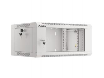 Szafa instalacyjna RACK wisząca 19'' 15U 570x450 drzwi szklane szybki montaż Lanberg (flat pack) - szara