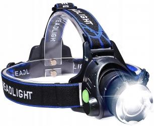 Akumulatorowa latarka czołowa LED LTC 1000lm ZOOM + 2 ładowarki