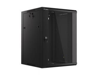 Szafa instalacyjna RACK wisząca 19'' 15U 570x600 drzwi szklane Lanberg - czarna