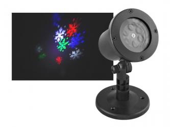 Projektor ogrodowy LED LTC płatki śniegu z wymienną podstawką