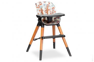 Drewniane krzesło i krzesełko do karmienia 4 w 1 Lionelo Mona - wzór w kwiaty