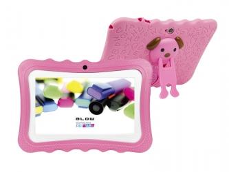Tablet BLOW KIDSTAB 7.4HD2 + etui + gry dla dzieci - różowy