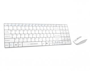 Zestaw bezprzewodowy klawiatura + mysz 2.4GHZ USB Esperanza LIBERTY biały