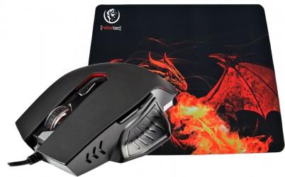 Optyczna podświetlana mysz dla graczy Rebeltec Red Dragon 2400 DPI