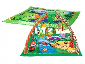 Mata edukacyjna Zwierzaki Las gra melodie świeci + zabawki + mata Król Lew