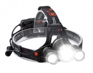 Akumulatorowa latarka czołowa 3xLED LTC 1200lm + 2 ładowarki
