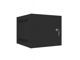 Szafa instalacyjna RACK wisząca 10'' 4U 280x310 drzwi metalowe Lanberg - czarna