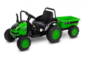 Traktor na akumulator z przyczepką Caretero Toyz Hector akumulatorowiec + pilot - zielony