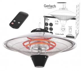 Wiszący grzejnik elektryczny promiennik ciepła tarasowy ogrzewacz do patio Gerlach GL 7735 + pilot