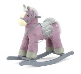 Koń na biegunach Milly Mally PePe fioletowy interaktywny konik bujany