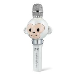 Mikrofon z głośnikiem bluetooth dla dzieci Forever Animal małpka - srebrny