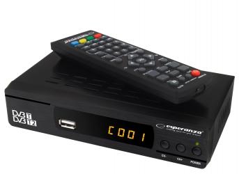 Cyfrowy zestaw DVB-T antena pokojowa + tuner DVB-T/T2 EV104