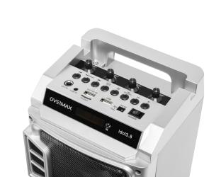 Głośnik Bluetooth OVERMAX IDOL 3.8 czarny  FM USB AUX SD 2x mikrofon bezprzewodowy
