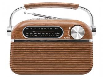 Przenośne radio retro LTC Nida Bluetooth z wbudowanym akumulatorem USB SD