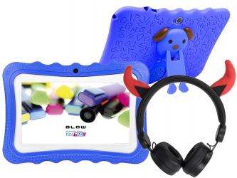 Tablet edukacyjny dla dzieci BLOW KIDSTAB 7 ver. 2020 +gry +słuchawki - niebieski