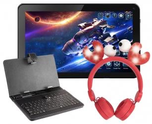 Tablet edukacyjny dla dzieci + słuchawki + klawiatura