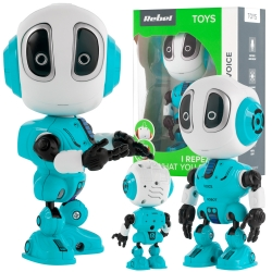 Interaktywny mówiący robot REBEL VOICE niebieski