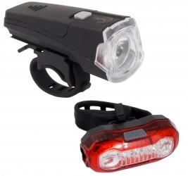 Zestaw lampka rowerowa LED na przód i tył Esperanza WEZEN  + POLARIS USB