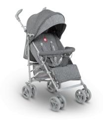 Wózek spacerowy LIONELO IRMA + moskitiera + ocieplacz na nóżki + torba do przenoszenia - szary