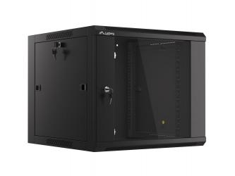 Szafa instalacyjna RACK wisząca 19'' 9U 570x600 drzwi szklane Lanberg  - czarna
