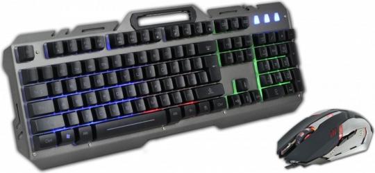 Zestaw gamingowy Rebeltec INTERCEPTOR klawiatura podświetlana + mysz optyczna