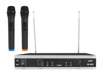System mikrofonów bezprzewodowych LTC MIC02 2x mikrofon + stacja