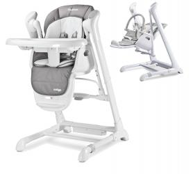 Krzesełko do karmienia huśtawka 2w1 Caretero INDIGO - szare