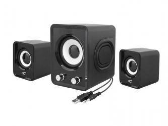 Zestaw głośników komputerowych LTC 2.1 11W USB5V czarne