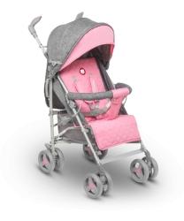 Wózek spacerowy LIONELO IRMA różowy + moskitiera + ocieplacz na nóżki + folia przeciwdeszczowa