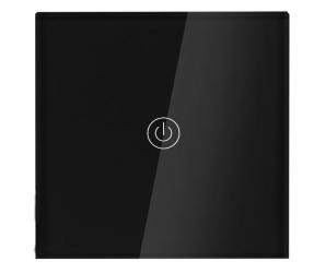Dotykowy włącznik światła WiFi szklany pojedynczy - czarny