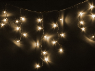 Lampki ozdobne choinkowe sople białe ciepłe Led 96szt 3,8m