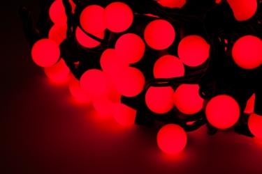 Lampki ozdobne choinkowe czerwone wewnętrzne LED 200 szt 20 m