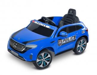 Samochód auto na akumulator Caretero Toyz Mercedes-Benz EQC 400 POLICJA akumulatorowiec + pilot - niebieski