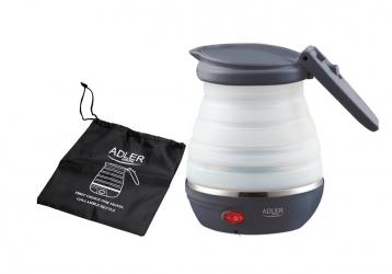 Elektryczny czajnik silikonowy składany turystyczny Adler AD 1279 0,6 L 750 W etui
