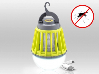 Lampa LED 2w1 owadobójcza UV LTC z pułapką elektryczną na komary